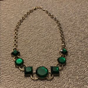 Green Stone Statement Necklace